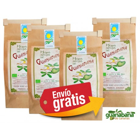 4x25g Hojas de Guanabana Ecologicas Canarias